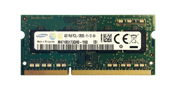 M471B5173QH0-YK0 Samsung 4GB PC3-12800 DDR3-1600MHz non-ECC Unbuffered CL11 204-Pin SoDimm - Rebuild IT