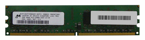 MT16HTF25664AY-667E1 Micron 2GB PC2-5300 DDR2-667MHz non-ECC Unbuffered CL5 240-Pin DIMM - Rebuild IT