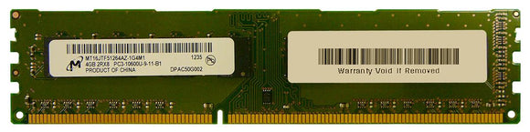 MT16JTF51264AZ-1G4M1 Micron 4GB PC3-10600 DDR3-1333MHz non-ECC Unbuffered CL9 240-Pin DIMM