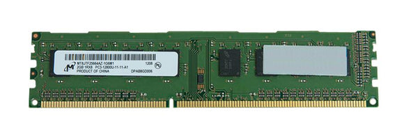 MT8JTF25664AZ-1G6M1 Micron 2GB PC3-12800 DDR3-1600MHz non-ECC Unbuffered CL11 240-Pin DIMM - Rebuild IT