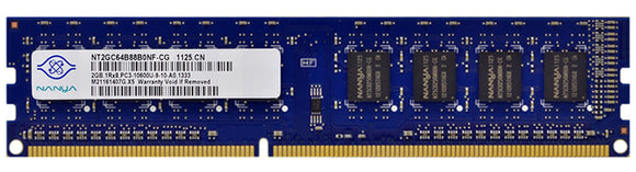 NT2GC64B88B0NF-CG Nanya 2GB PC3-10600 DDR3-1333MHz non-ECC Unbuffered CL9 240-Pin - Rebuild IT