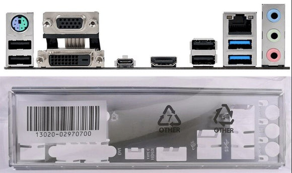 I/O Shield for Asus Prime B250-Plus