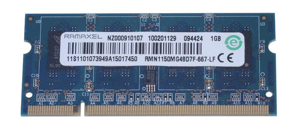 RMN1150MG48D7F-667-LF Ramaxel 1GB PC2-5300 DDR2-667MHz non-ECC Unbuffered CL5 200-Pin SODIMM Dual Rank Memory Module - Rebuild IT