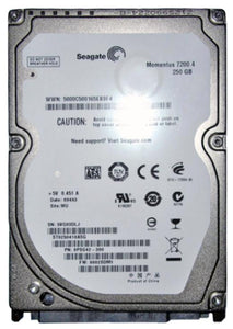 ST9250410ASG Seagate Momentus 7200.4 250GB 7200RPM SATA 3Gbps 16MB Cache 2.5""