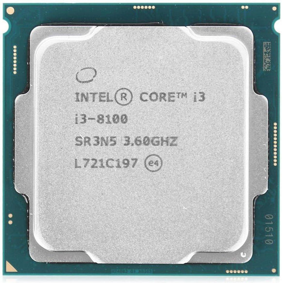 Intel Core i3-8100 3.6GHz Processor - Socket LGA1151 - Rebuild IT