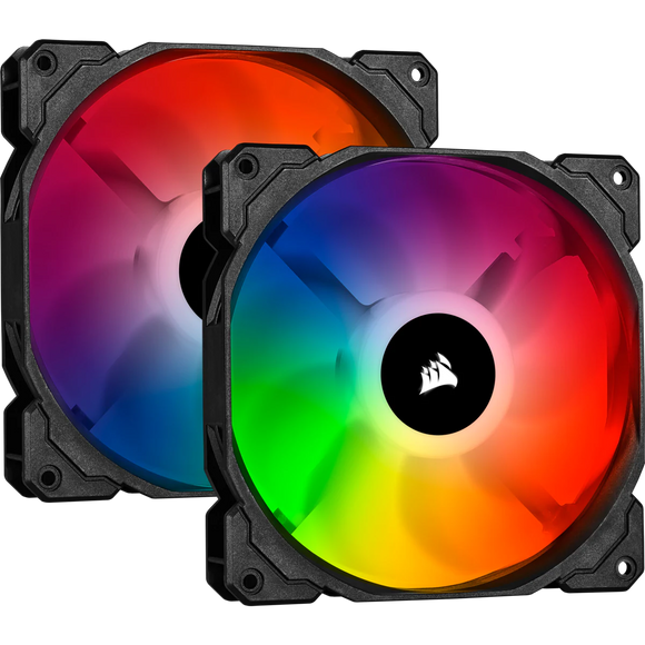 iCUE SP140 RGB PRO Performance 140mm Dual Fan Kit with Lighting Node CORE