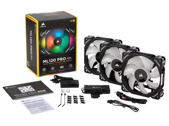 Corsair Premium ML120 Pro RGB PWM 120mm LED 3-pack - Rebuild IT