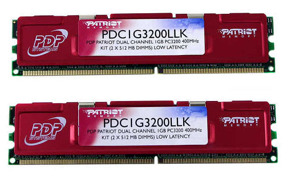 Patriot Extreme Performance 512MB 184-Pin DDR SDRAM DDR 400MHz