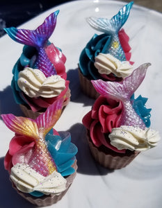 Mermaid Mini Soap Cupcake
