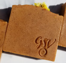 Load image into Gallery viewer, Glow Soap Bar - Turmeric, Carrot, Honey and Calendula w/ Citrine