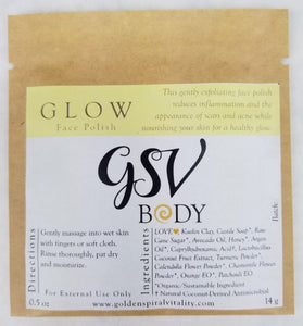 Glow Face Polish  - Turmeric, Honey, Calendula & Chamomile