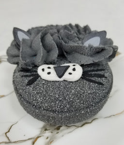 Bonkers Bubbling Bath Bomb- Activated Charcoal, Goat Milk, Lavender