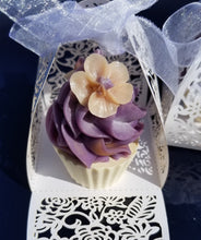 Load image into Gallery viewer, Orange & Lavender Mini Soap Cupcake