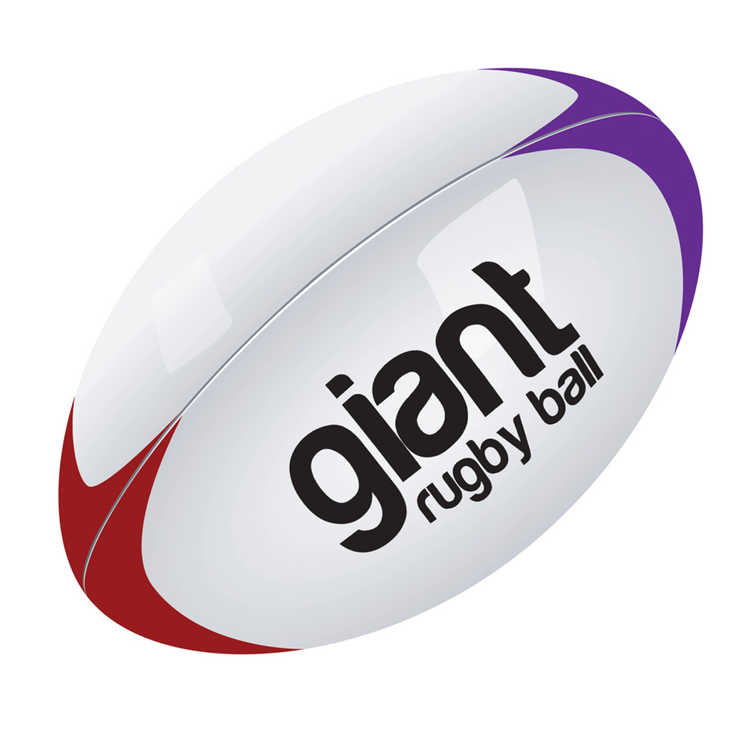 Giant inflatable rugby ball