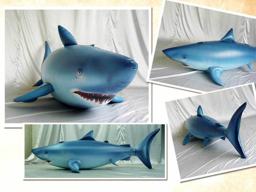 Giant inflatable shark