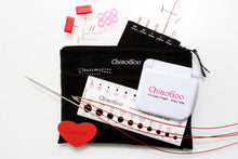 "Load image into Gallery viewer, ChiaoGoo TWIST RedLace Mini [M] 4"" (10 cm) Interchangeable Needle Set"