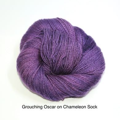 Grouching Oscar, Hidden Snuffy (Chameleon Sock)