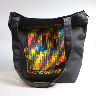 Photo/Synthesis Design by Christina Dedes-Zippered Canvas Project Bag with Handles