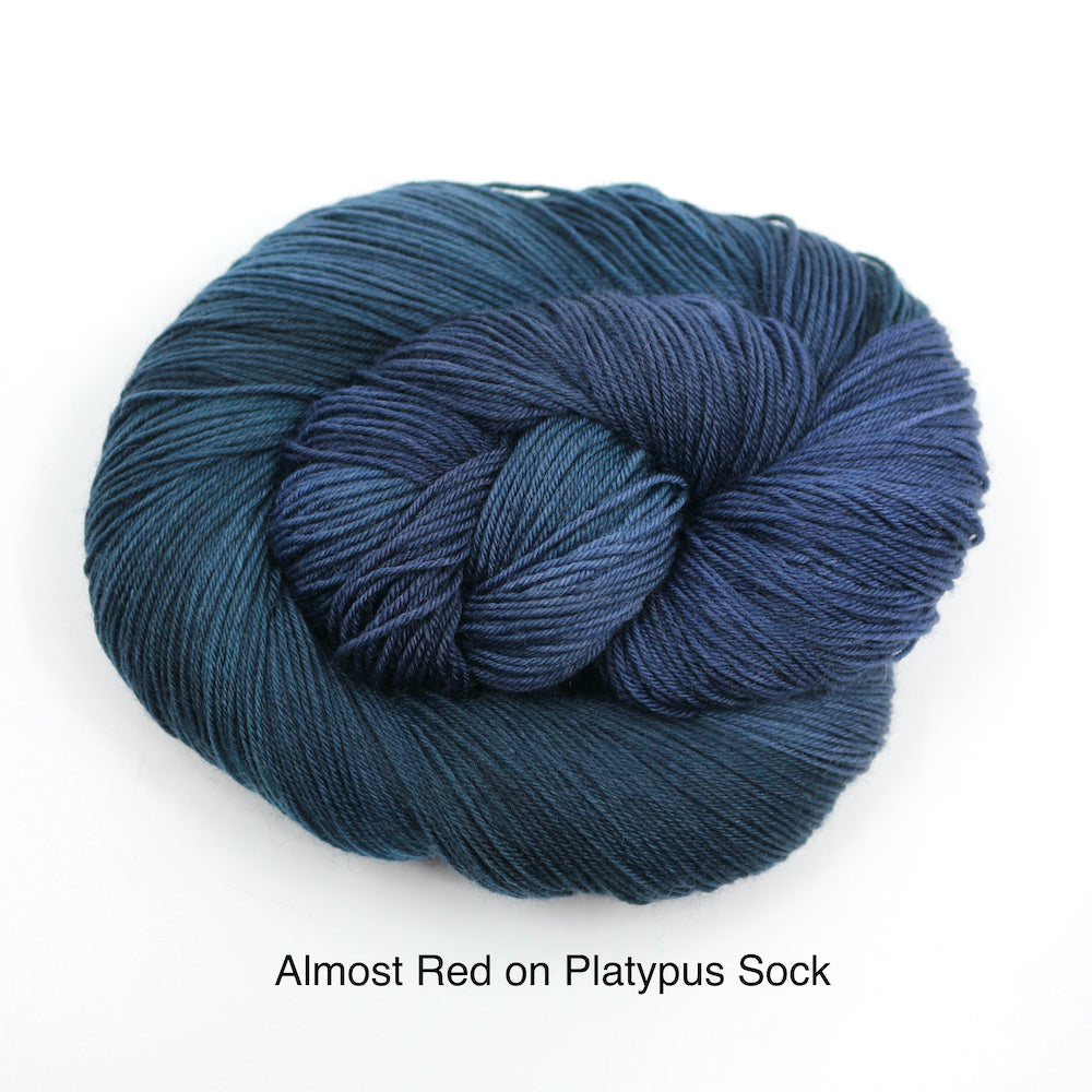 Almost Red (Platypus Sock)