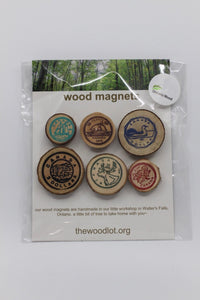 "Handmade Wooden ""Canadian Coin"" Magnets"