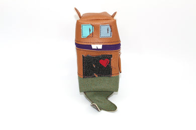 Robot A Day pouches - Tails (Cute and Cuddly Mutant Zombie Squirrel)