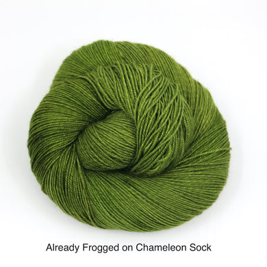 Already Frogged. (Chameleon Sock)