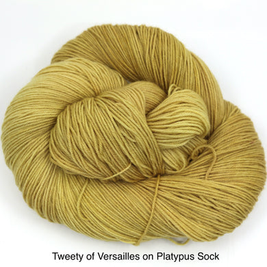 Tweety Of Versailles (Platypus Sock)