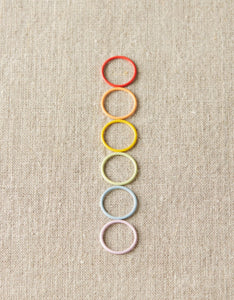 Cocoknits Magnetic JUMBO Coloured Ring Stitch Markers