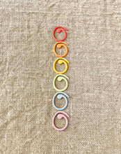 Load image into Gallery viewer, Cocoknits Magnetic Coloured Split Ring Stitch Markers
