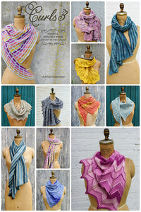 Curls 3: Versatile, Wearable Wraps To Knit At Any Gauge by Hunter Hammersen