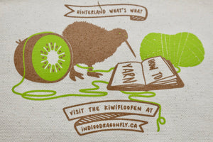 Kiwifloofen: Hinterland What's What Design by Christina Dedes-Zippered Canvas Project Bag