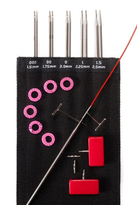 "ChiaoGoo TWIST RedLace Mini [M] 4"" (10 cm) Interchangeable Needle Set"
