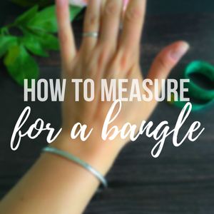 How to measure your bangle size