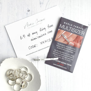 FREE ring sizing - DIY Ring Multisizer gauge with £5 off rings