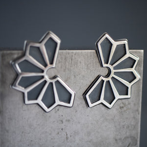 Deco Sun Ray Statement Earrings