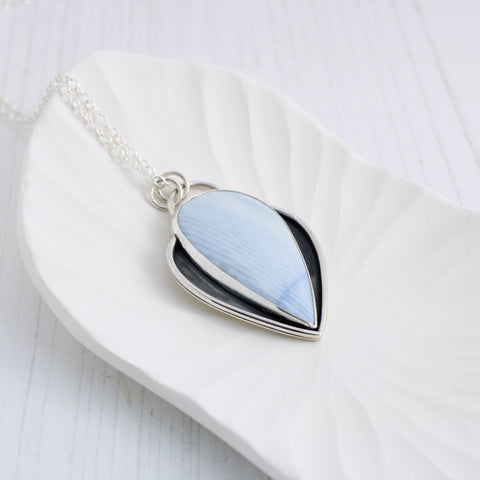 Limited Edition: Blue Opal Nouveau Pendant