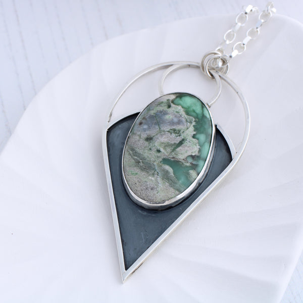 Limited edition Azurite Silver Pendant, Aimi Cairns Jewellery