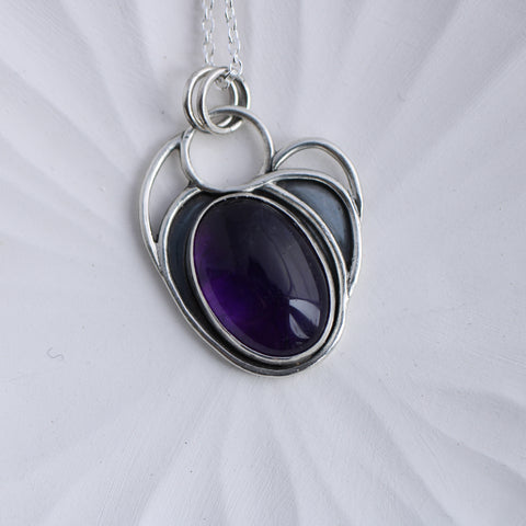 Amethyst and Silver Limited Edition Pendant
