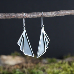 Portfolio Example: Art Deco Oxidised Earrings