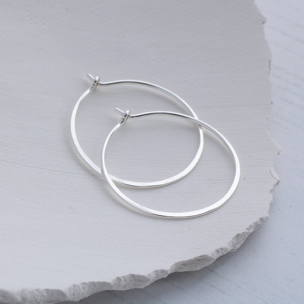 small round hoop earrings silver, Aimi Cairns Jewellery