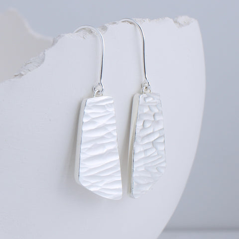 River collection silver dangle earrings