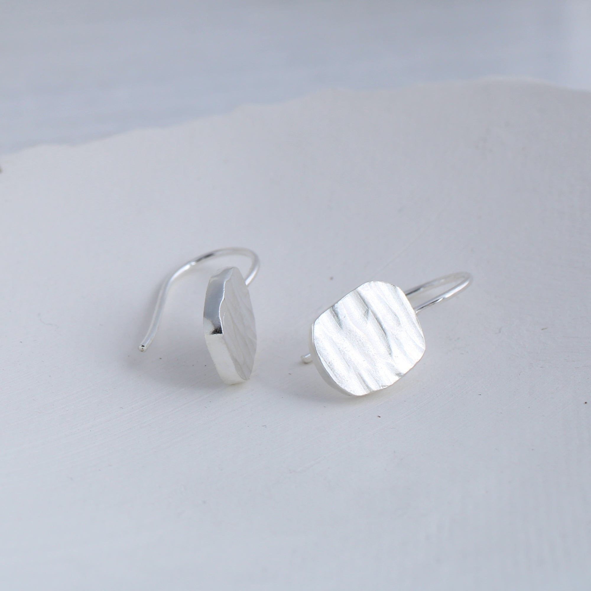 River collection small silver earrings