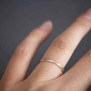 Thin silver stacking ring