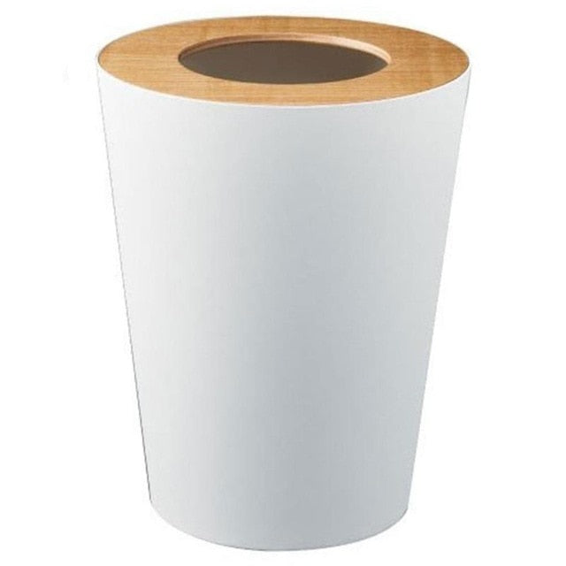 Frosted Trash Can Wooden