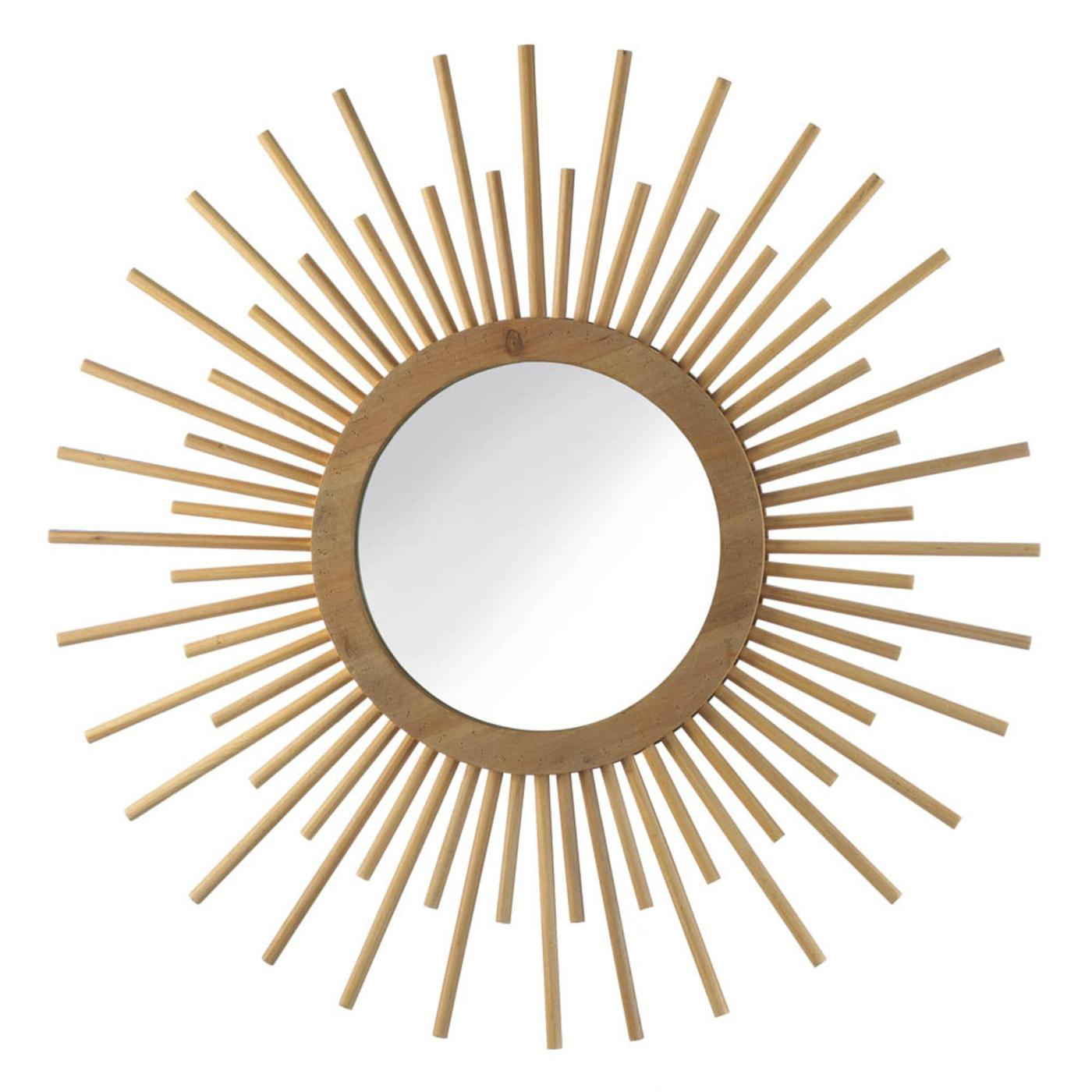 Wood Sunburst Mirror