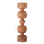 Carved Mango Wood Candleholder