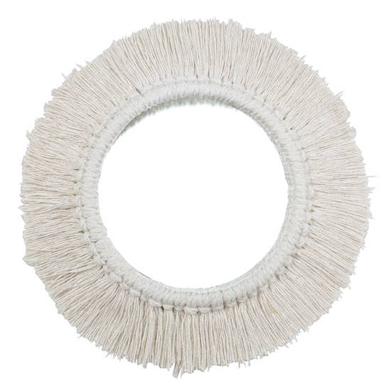 Natural Fringe Wall Mirror