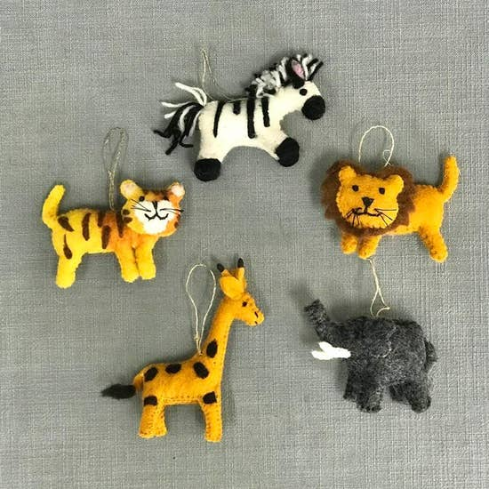 Felt Jungle Animal Ornament