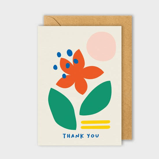 Thanks Flower Card - May Wynn