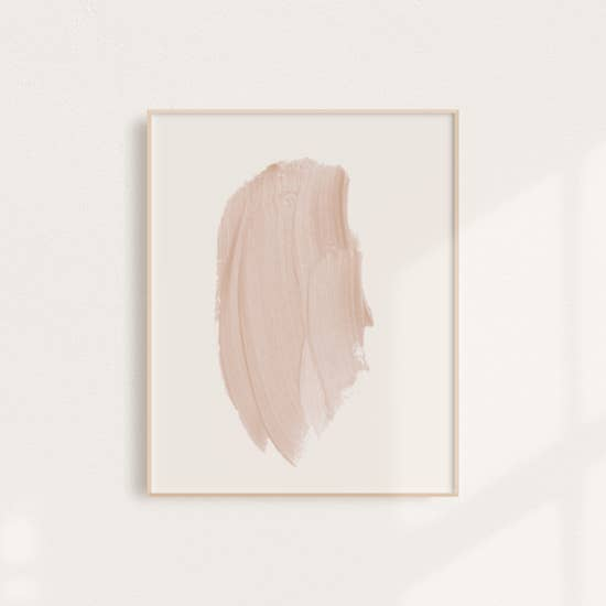 Blush Stroke Art Print